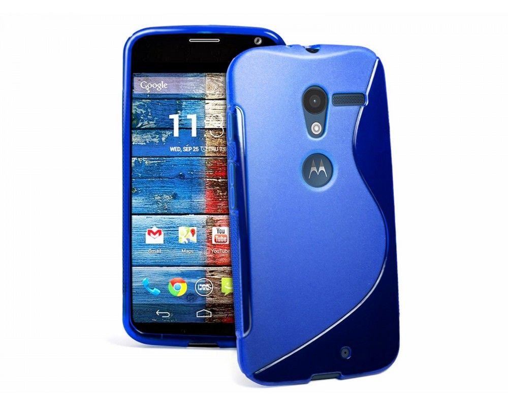 Funda Gel Tpu Motorola Moto X S Line Color Azul