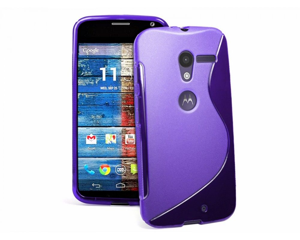 Funda Gel Tpu Motorola Moto X S Line Color Morada