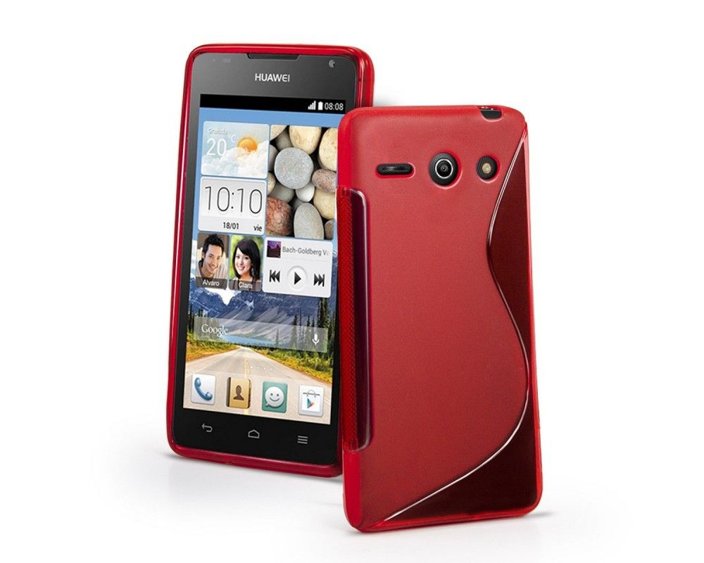 Funda Gel Tpu Huawei Ascend Y530 S Line Color Rojo
