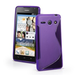 Funda Gel Tpu Huawei Ascend Y530 S Line Color Morado