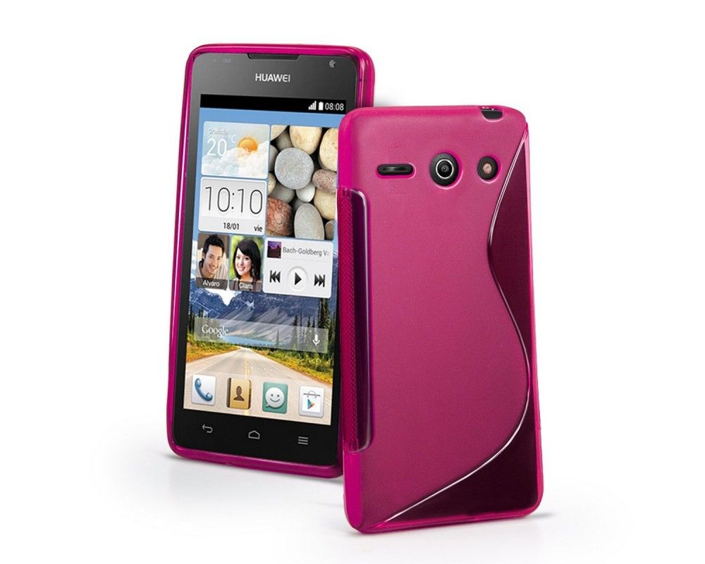 Funda Gel Tpu Huawei Ascend Y530 S Line Color Rosa