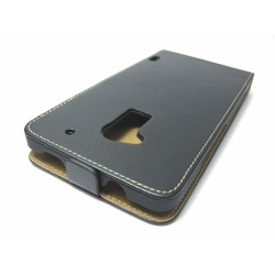 Funda Piel Premium Ultra-Slim HTC One Max Negra