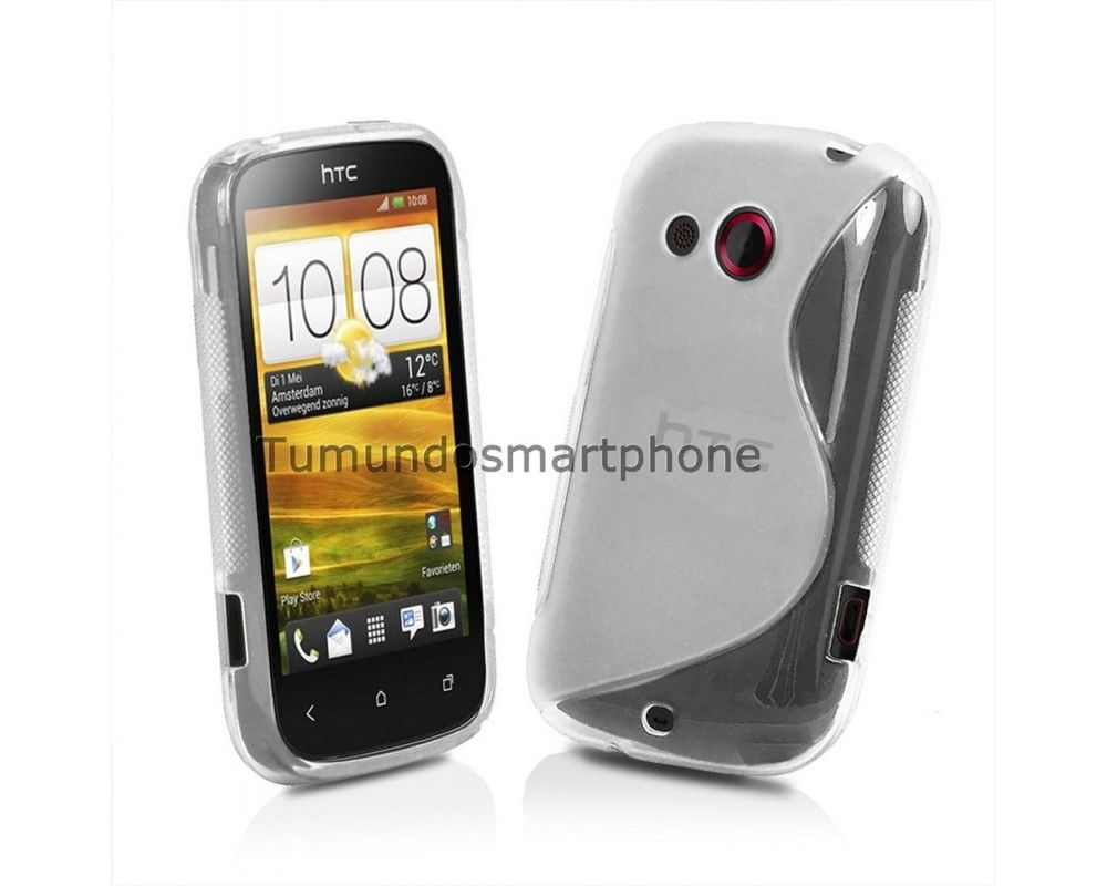 Funda Gel Tpu HTC Desire C S Line Color Transparente
