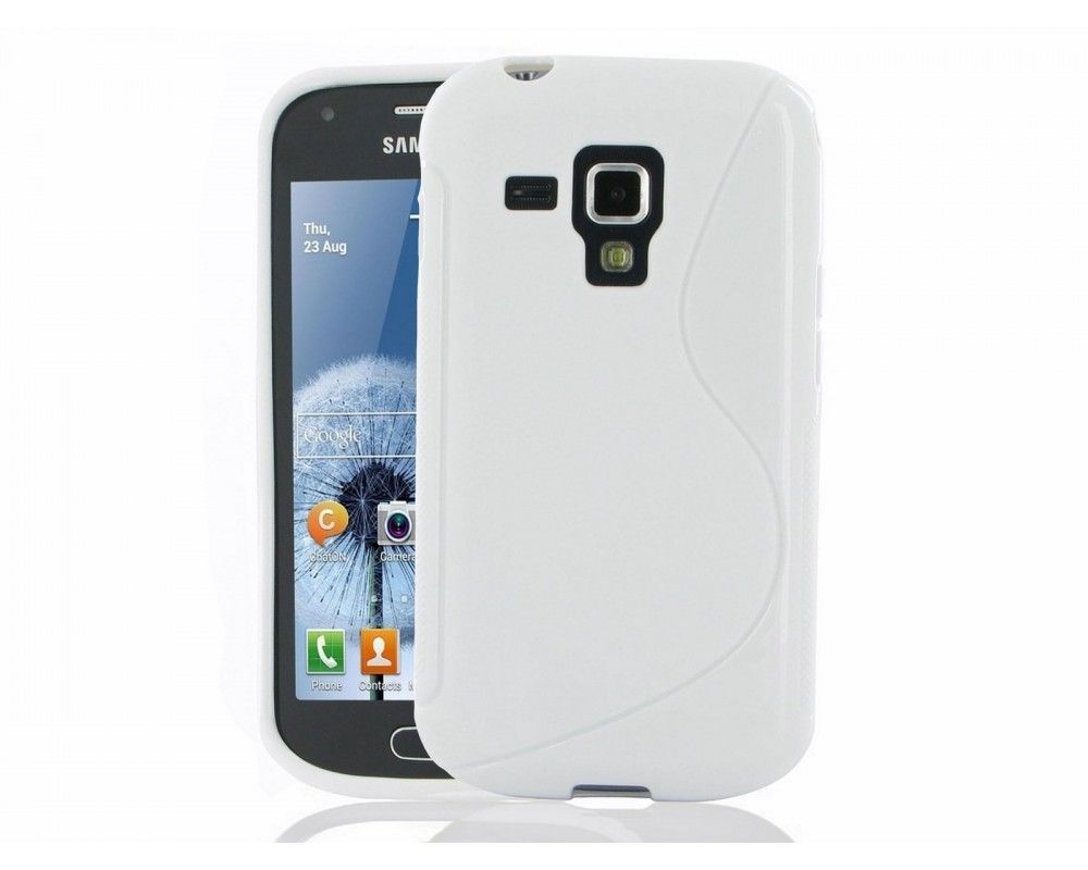 Funda Gel Tpu Samsung Galaxy Trend S7560  S Line Color Blanca