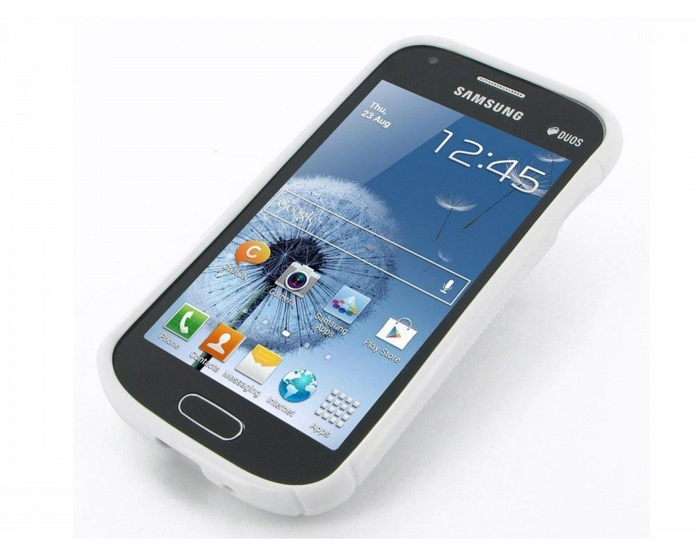Funda Gel Tpu Samsung Galaxy Trend Plus S7580  S Line Color Blanca