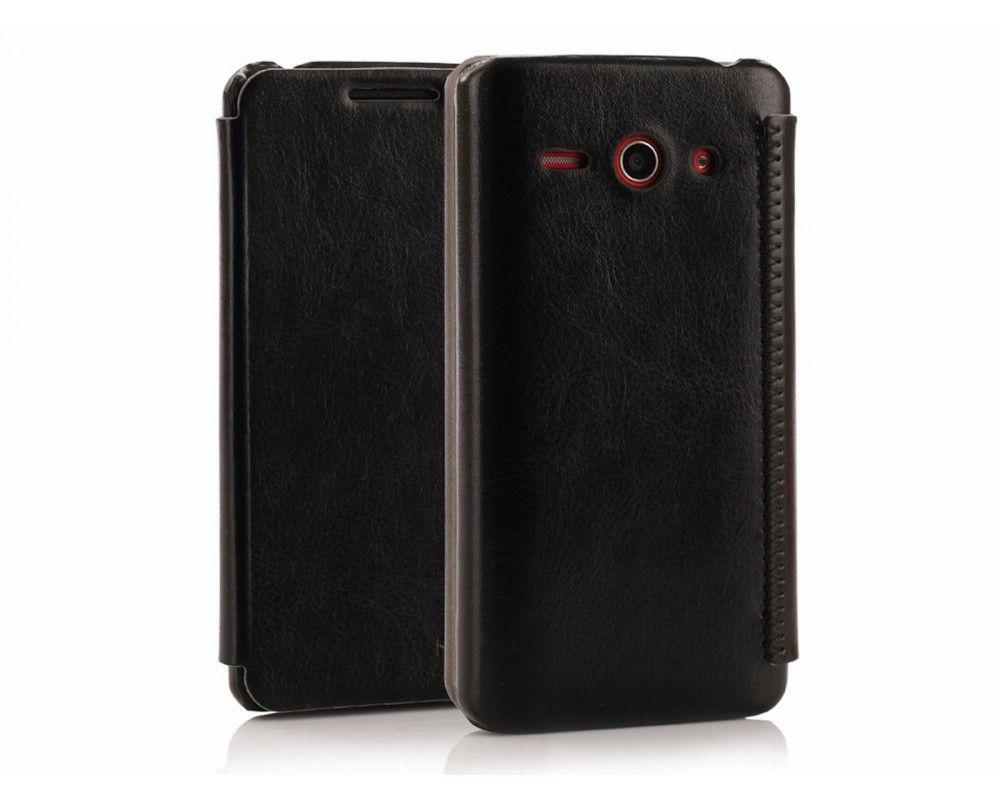 Funda Flip Piel Negra Kalaideng Enland para Huawei Ascend Y530