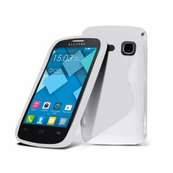Funda Gel Tpu Alcatel One Touch Pop C3 Color Blanca