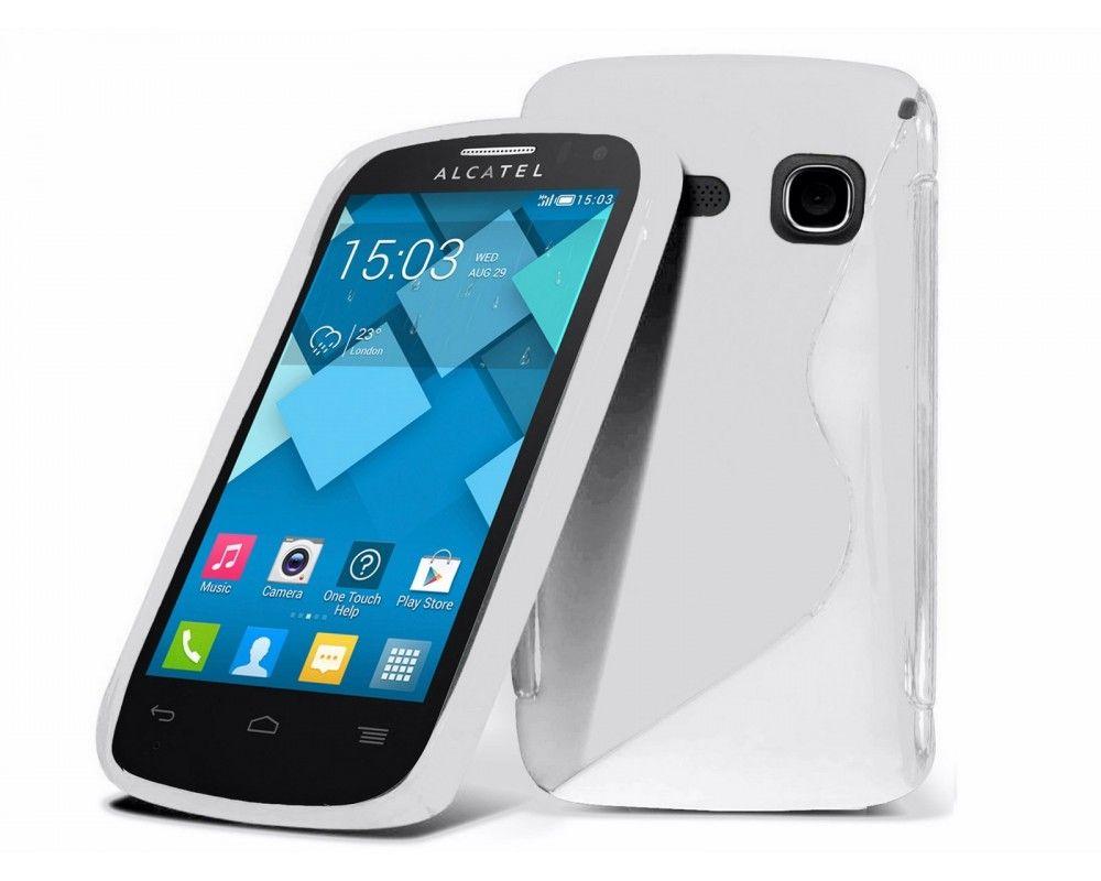 Funda Gel Tpu Alcatel One Touch Pop C3 Color Blanca
