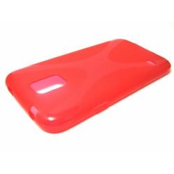 Funda Gel Tpu Samsung Galaxy S5 / S5 Neo Modelo X Line Color Roja