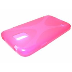 Funda Gel Tpu Samsung Galaxy S5 / S5 Neo Modelo X Line Color Rosa