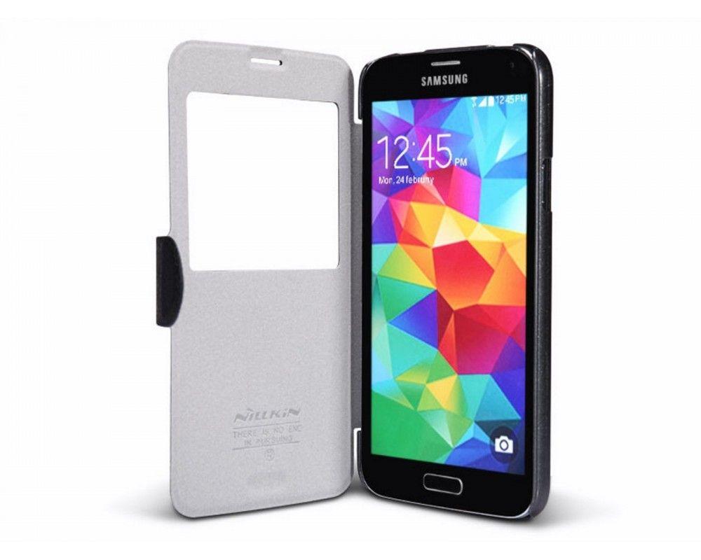Funda Flip Nillkin Piel Negra para Samsung Galaxy S5 / S5 Neo