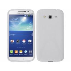 Funda Gel Tpu Samsung Galaxy Grand 2 Ii G7102 / G7105 Modelo X Line Color Blanca