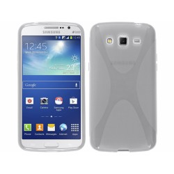 Funda Gel Tpu Samsung Galaxy Grand 2 Ii G7102 / G7105 Modelo X Line Color Transparente