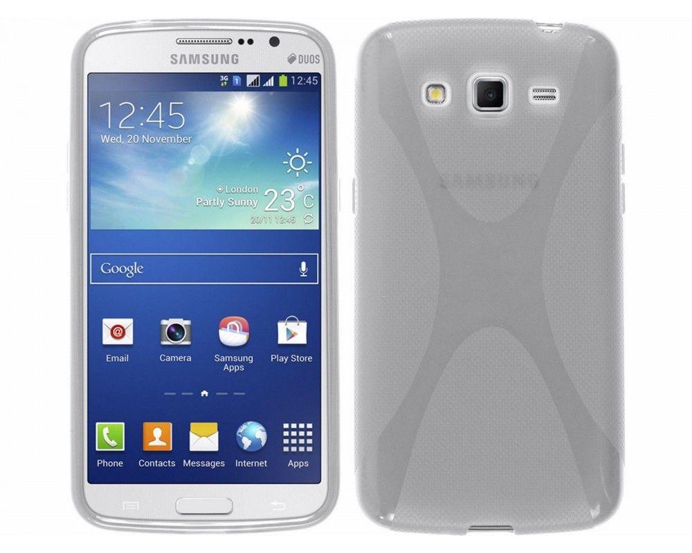 Funda Gel Tpu Samsung Galaxy Grand 2 Ii G7102 / G7105 Modelo X Line Color Transparente