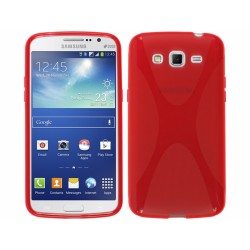 Funda Gel Tpu Samsung Galaxy Grand 2 Ii G7102 / G7105 Modelo X Line Color Rojo
