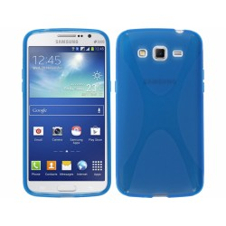 Funda Gel Tpu Samsung Galaxy Grand 2 Ii G7102 / G7105 Modelo X Line Color Azul