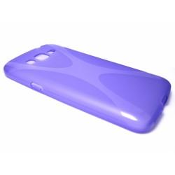 Funda Gel Tpu Samsung Galaxy Grand 2 Ii G7102 / G7105 Modelo X Line Color Morada