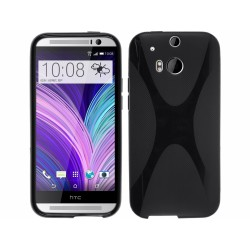 Funda Gel Tpu HTC One 2 (M8) X Line Color Negra