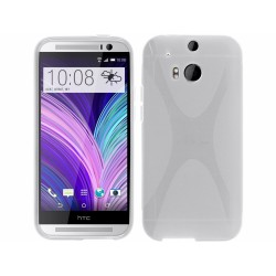 Funda Gel Tpu HTC One 2 (M8) X Line Color Transparente