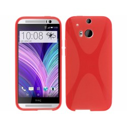 Funda Gel Tpu HTC One 2 (M8) X Line Color Roja