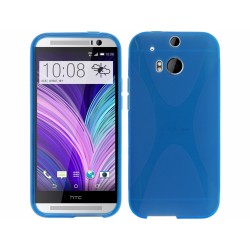 Funda Gel Tpu HTC One 2 (M8) X Line Color Azul