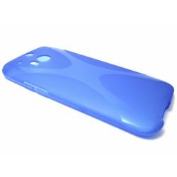 Funda Gel Tpu HTC One 2 (M8) X Line Color Azul