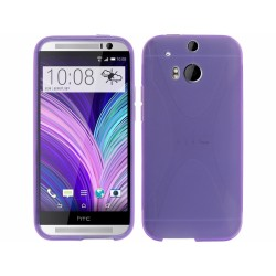 Funda Gel Tpu HTC One 2 (M8) X Line Color Morada