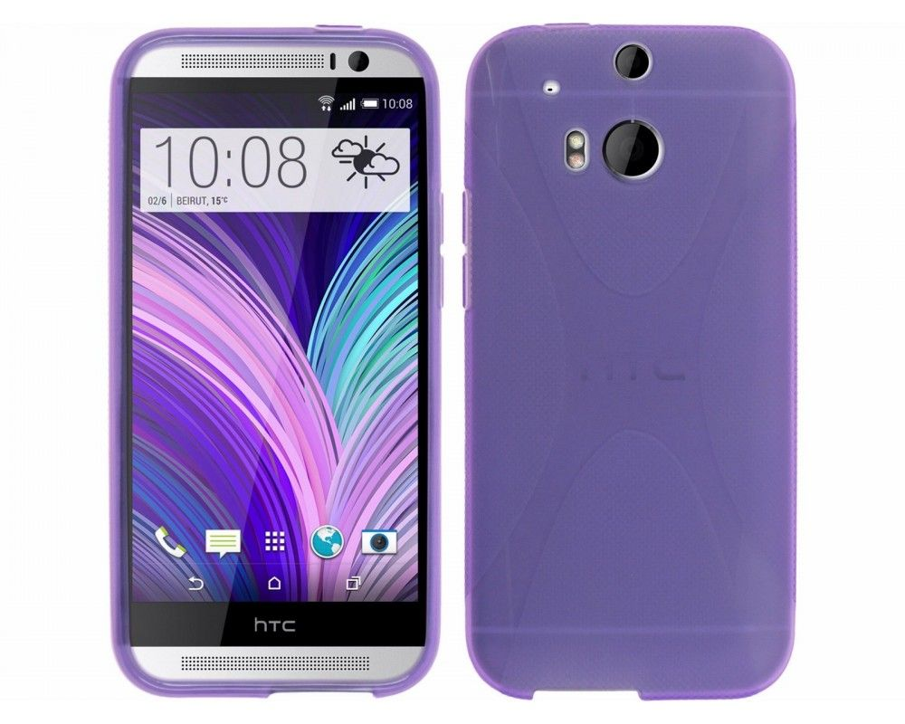 Funda Gel Tpu HTC One 2 (M8) X Line Color Morada
