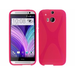 Funda Gel Tpu HTC One 2 (M8) X Line Color Rosa