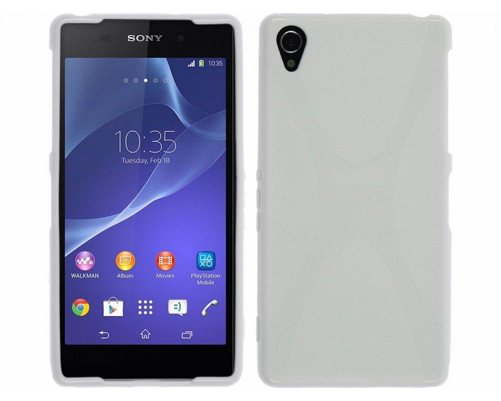 Funda Gel Tpu Sony Xperia Z2 Modelo X Line Color Blanca