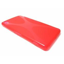 Funda Gel Tpu Sony Xperia Z2 Modelo X Line Color Roja