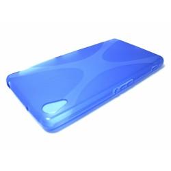 Funda Gel Tpu Sony Xperia Z2 Modelo X Line Color Azul