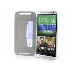 Funda Soporte Casebase Piel Blanca para HTC One 2 (M8)