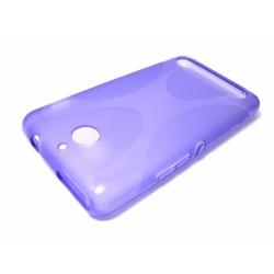 Funda Gel Tpu Sony Xperia E1 Modelo X Line Color Morada