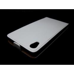 Funda Piel Premium Ultra-Slim Sony Xperia Z2 Blanca