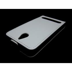 Funda Piel Premium Ultra-Slim Sony Xperia E1 Blanca