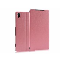 Funda Soporte Piel Texturizada Rosa para Sony Xperia Z2