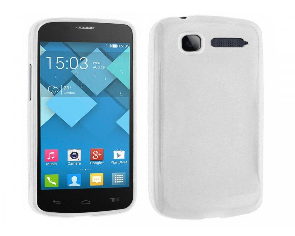 Funda Gel Tpu Alcatel One Touch Pop C1 / Orange Yomi Color Blanca