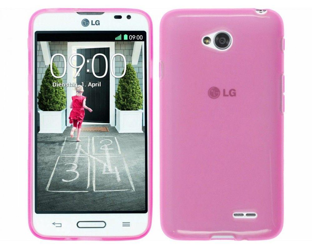 Funda Gel Tpu para Lg L65 D280N / Lg L70 D320N Color Rosa