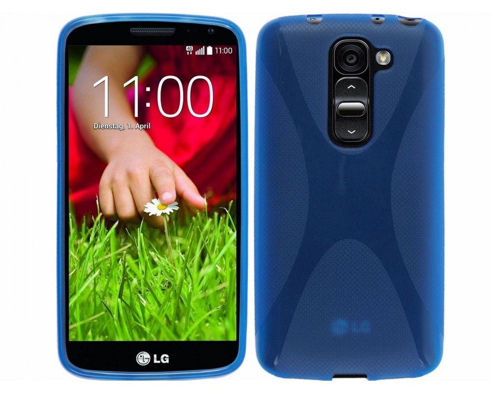 Funda Gel Tpu Lg Optimus G2 Mini D620 Modelo X Line Color Azul