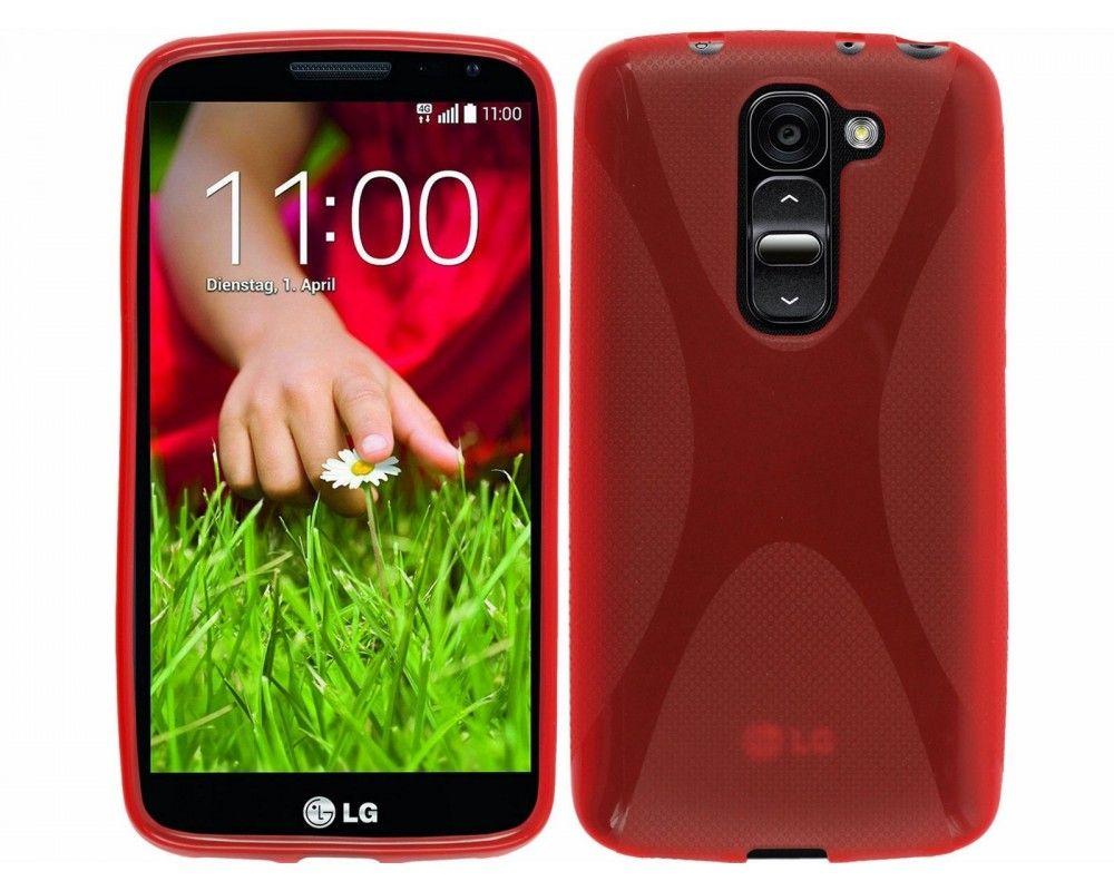Funda Gel Tpu Lg Optimus G2 Mini D620 Modelo X Line Color Roja