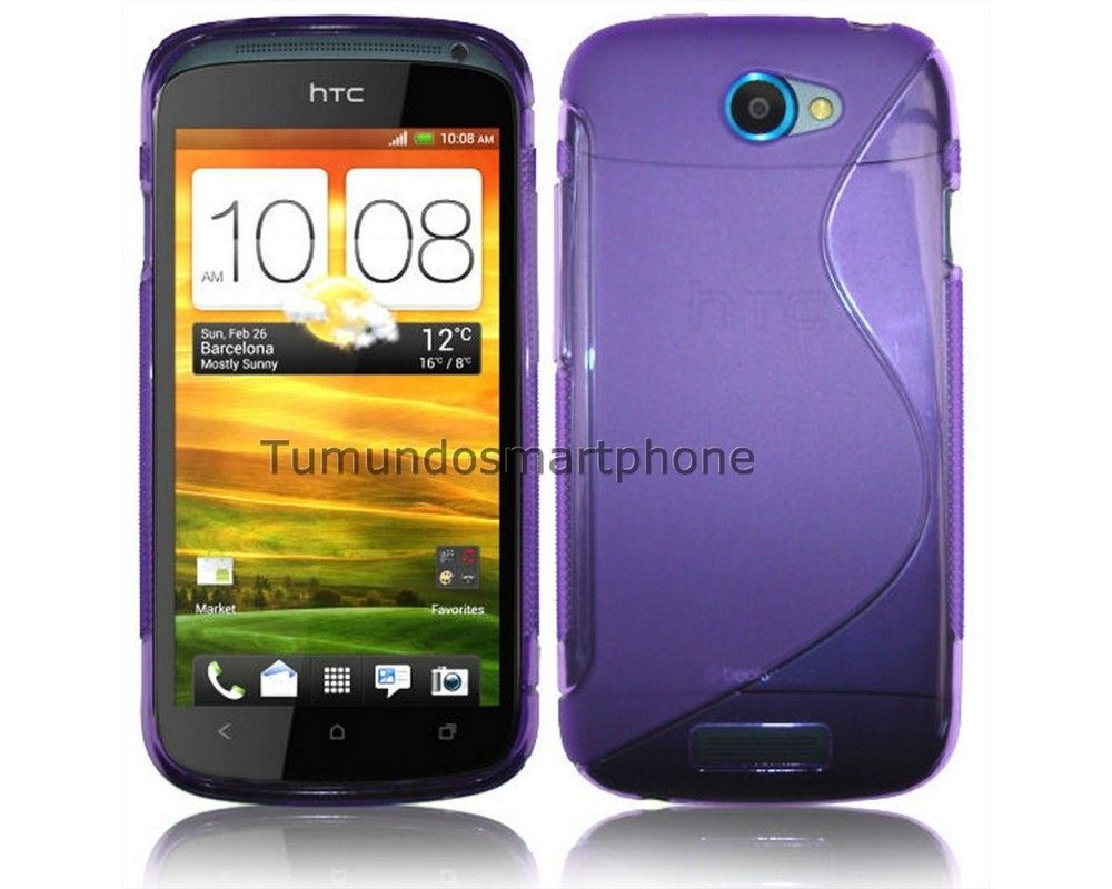 Funda Gel Tpu HTC One S S Line Color Morada