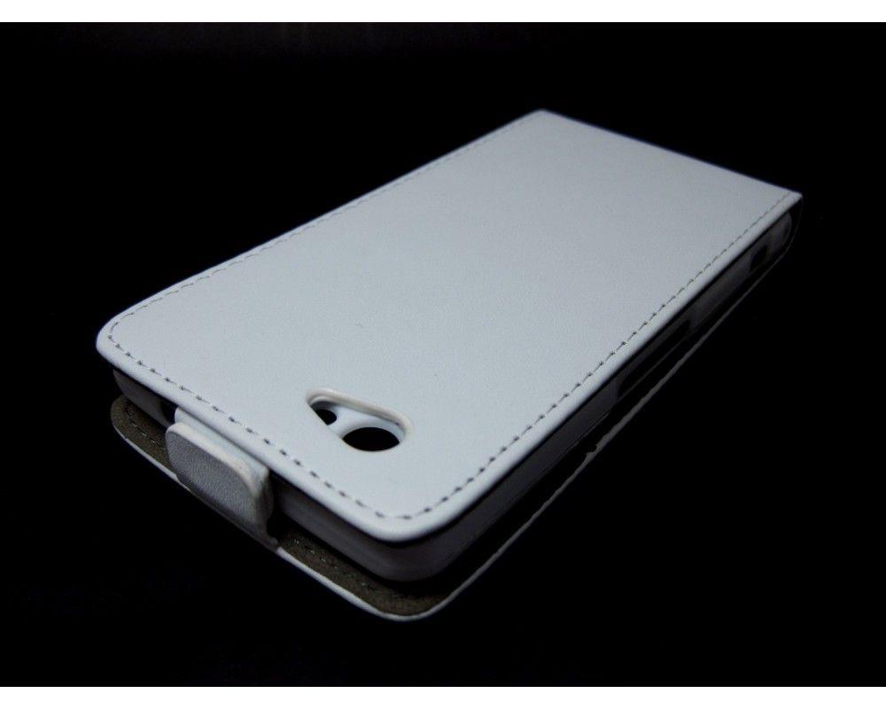Funda Piel Premium Ultra-Slim Sony Xperia Z1 Compact Blanca