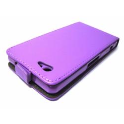 Funda Piel Premium Ultra-Slim Sony Xperia Z1 Compact Morada