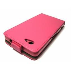 Funda Piel Premium Ultra-Slim Sony Xperia Z1 Compact Rosa