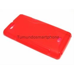 Funda Gel Tpu Sony Xperia Miro St23I S Line Color Roja