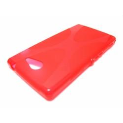 Funda Gel Tpu Sony Xperia M2 Aqua Modelo X Line Color Roja