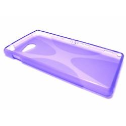 Funda Gel Tpu Sony Xperia M2 Aqua Modelo X Line Color Morada