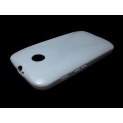 Funda Gel Tpu Motorola Moto E Modelo X Line Color Blanca