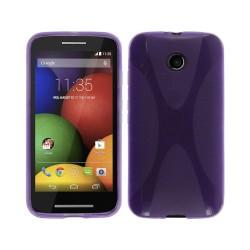 Funda Gel Tpu Motorola Moto E Modelo X Line Color Morada